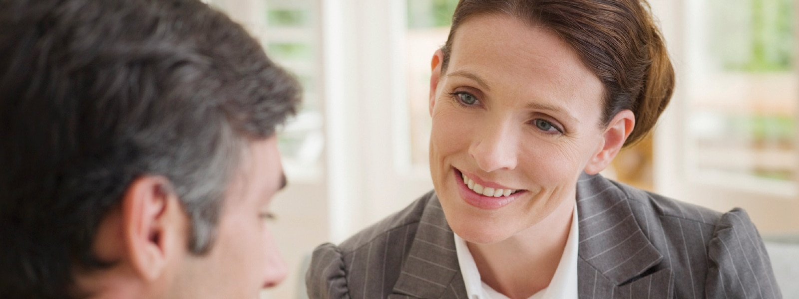 female advisor talking to a client