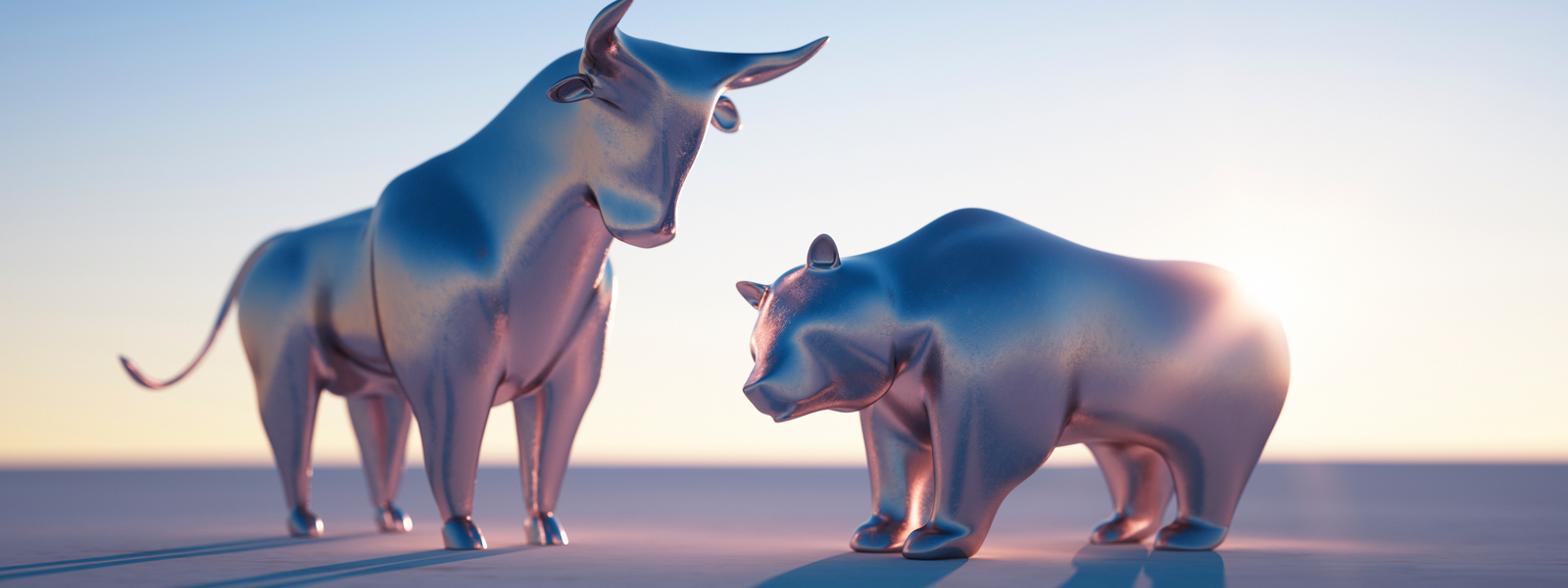 two silver bulls