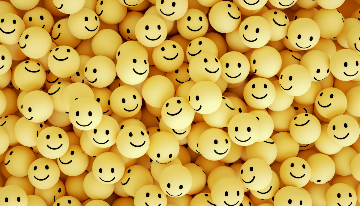smiley-face ping pong balls